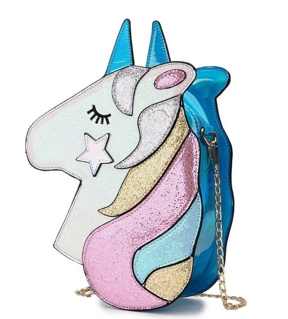 Shimmering Unicorn Bag - Blue - bag