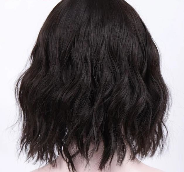 Short Wavy Pastel Wig - Black - diaper