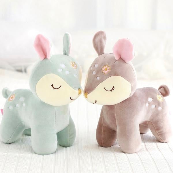 Sleepy Deer Plush Toy Stuffed Animal Christmas Kawaii Cute