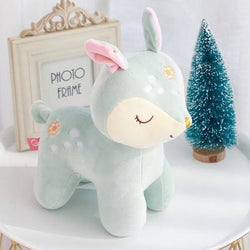 Sleepy Deer Plush - Green - Home Decor