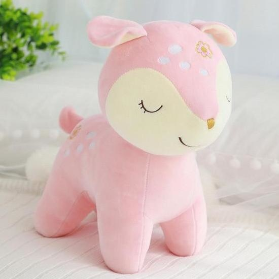Sleepy Deer Plush - Pink - Home Decor