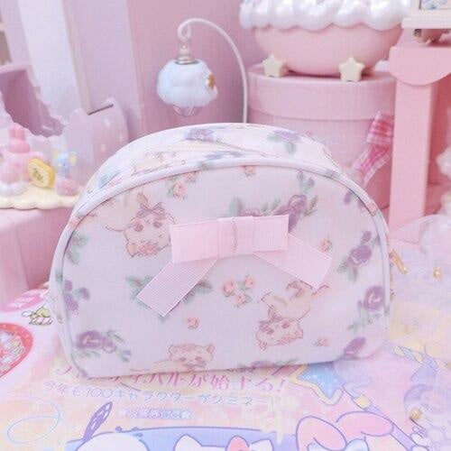 Smol Unicorn Cosmetic Bag - Oval White - storage