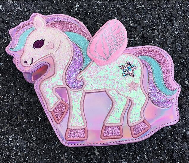 Sparkle Pegasus Handbag - Pink - bag