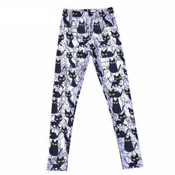 Spooky Cat Leggings - L - pants
