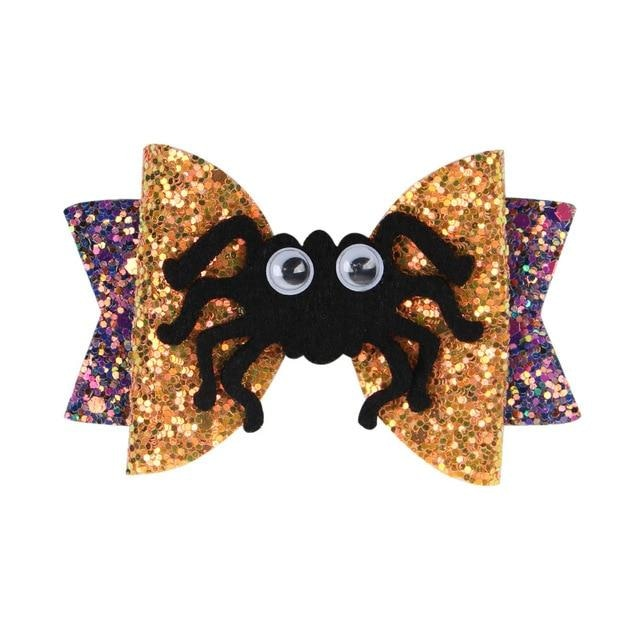 Spooky Hair Bows - Spider - hair accessory