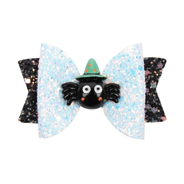 Spooky Hair Bows - Spider With Hat - hair accessory