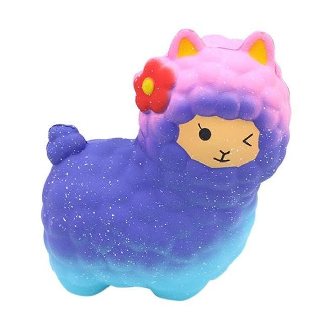 Blue galaxy alpaca squeeze toy stress ball stress relief autism stim stimming abdl kawaii fairy kei  by ddlg playground