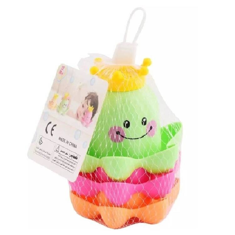 Stacking Octopus Bath Time Toy Floating Stackable Nesting by DDLG Playground