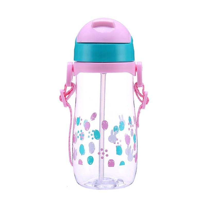Starry Bunny Sippy - 500ml Pink Sling - abdl, adult bottle, sized, baby bottles