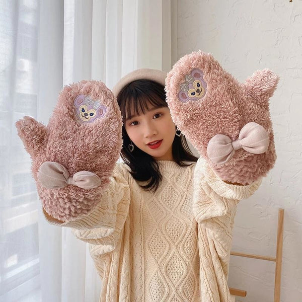Stellalou Fluffy Mittens - gloves