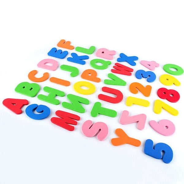 Bath Time Sticky Alphabet Foam Letters Rainbow Colorful by DDLG Playground