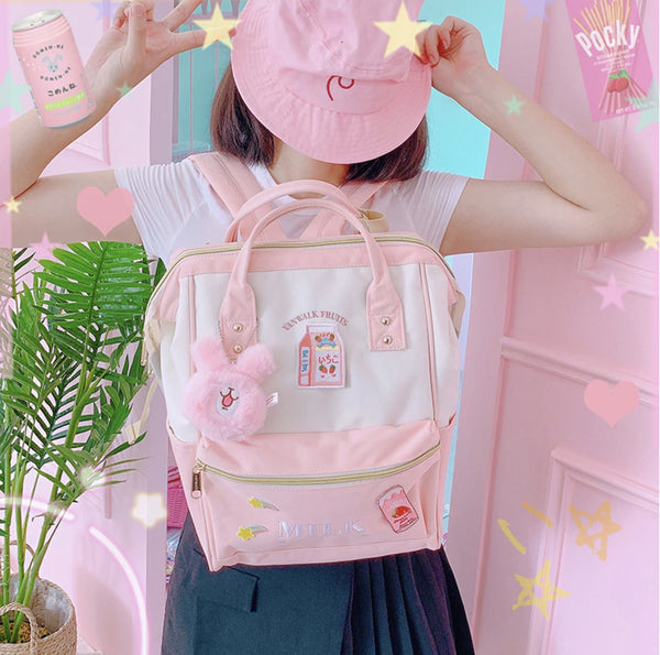 Strawberry Milk Backpack - backpack