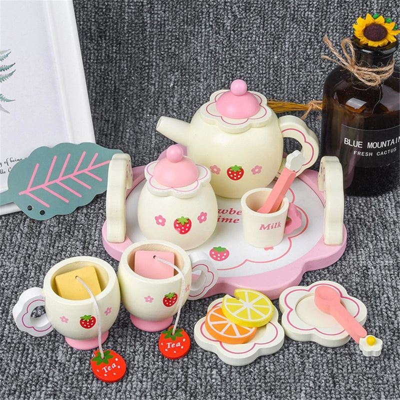 Strawberry Wooden Tea Set - teaset