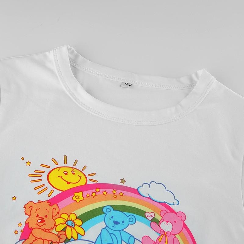 Such Cute Rainbow Crop Top - shirt