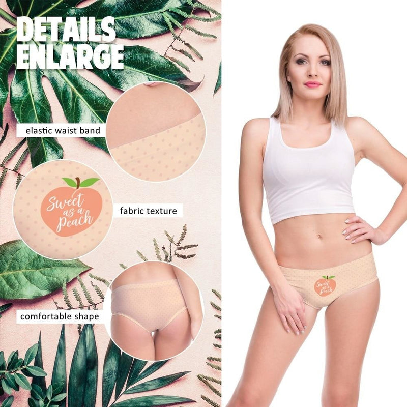 Sweet As A Peach Panties - underwear