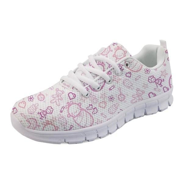 Sweet Baby Runners - Pink Baby Print / 5 - shoes