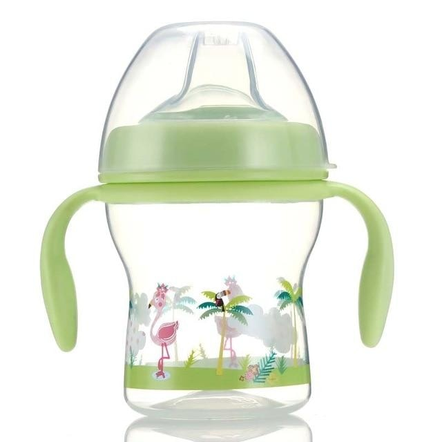 Sweet Baby Sippy - Green Birds - sippy cup