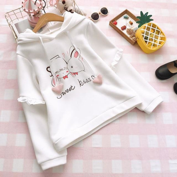 Sweet Bunny Kisses Hoodie - sweater