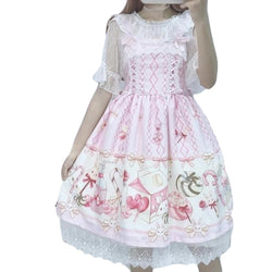 Pastel Pink Sweets Candy JSK Sweet Lolita Dress EGL Kawaii Fashion Fairy Kei