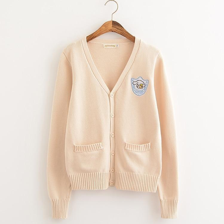 Peach Cinnamoroll Sanrio Knit Cardigan Sweater Sweatshirt Harajuku Japan Kawaii Fashion