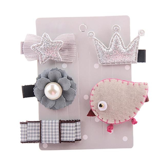 Sweet Hair Barrettes - Grey Bird - Hair