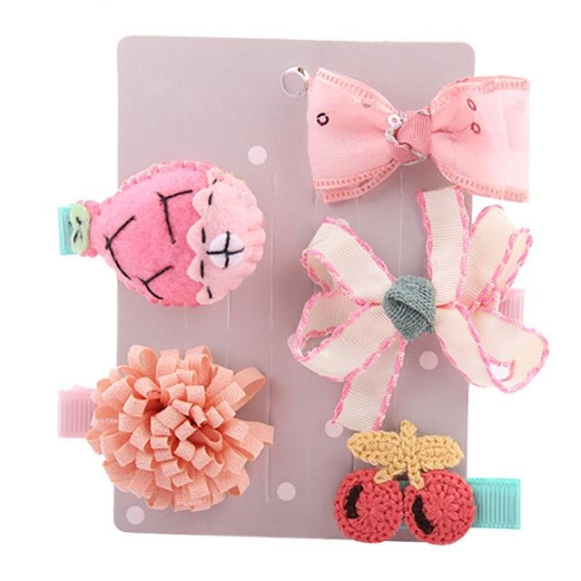 Sweet Hair Barrettes - Pink - Hair