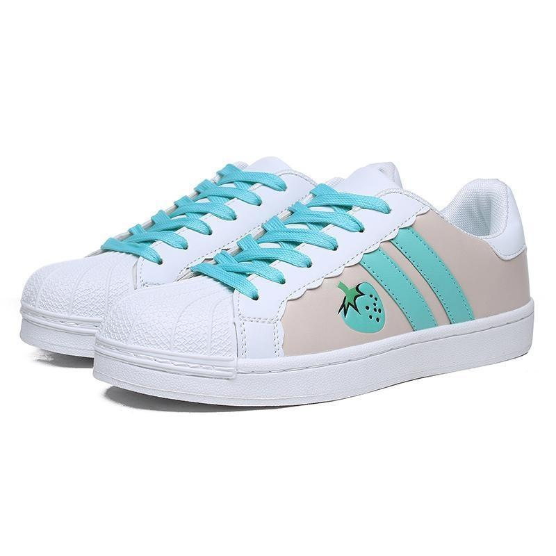 Sweet Strawberry Runners - Sky Blue / 5 - shoes
