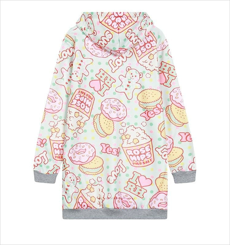 Sweet Treat Sweater Dress - candy, donuts, doughnuts, fairy kei, gingerbread