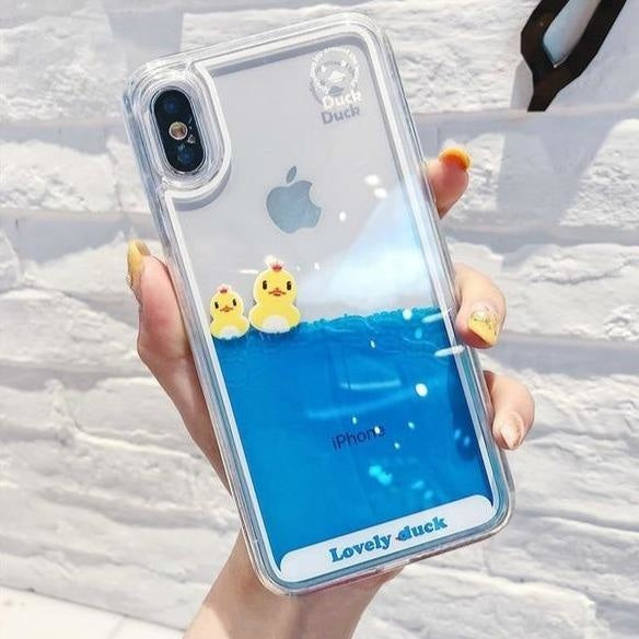 Swimming Duck iPhone Case - For iphone 5 5s / 2 Ducks - Phone Case