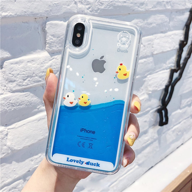 Swimming Duck iPhone Case - For iphone 6 6s / 3 Ducks - Phone Case