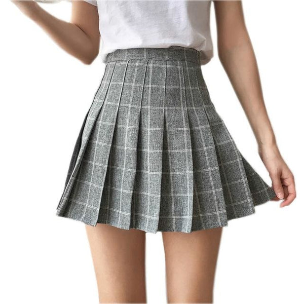 Tartan Plaid School Girl Skirt - skirt