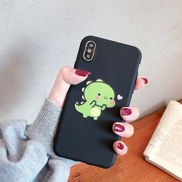Tiny Dino Samsung Phone Case - For Samsung A10S / Black - phone case