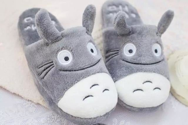 My Neighbour Totoro Fuzzy Grey Slippers Chinchilla Studio Ghibli by DDLG Playground