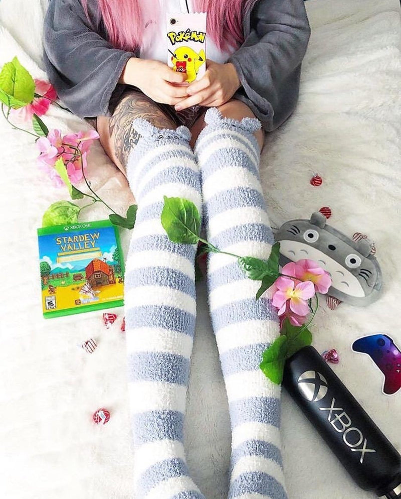 Totoro Thigh Highs - socks