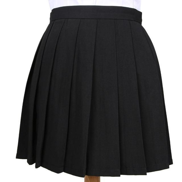 Traditional Pleated Skirt (up to 3XL) - Black / S - skirt