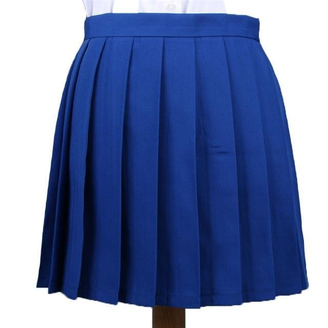 Traditional Pleated Skirt (up to 3XL) - Blue / S - skirt