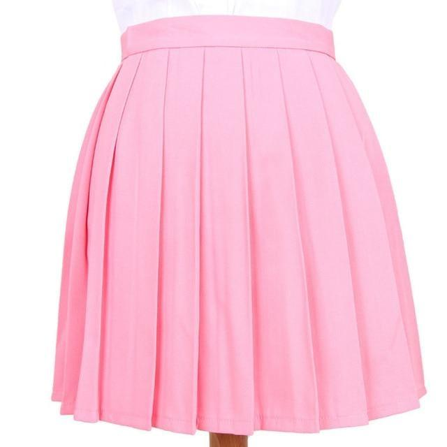 Traditional Pleated Skirt (up to 3XL) - Pink / S - skirt