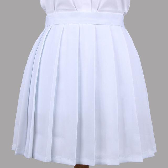 Traditional Pleated Skirt (up to 3XL) - White / S - skirt