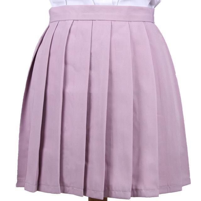 Traditional Pleated Skirt (up to 3XL) - Lavender / S - skirt