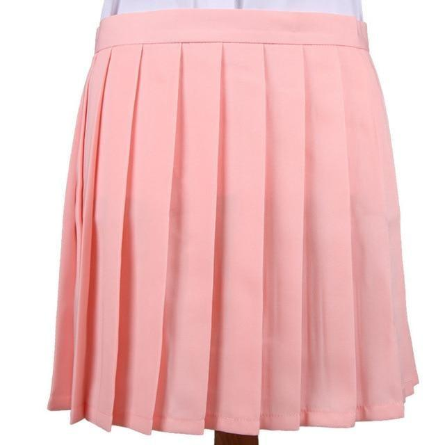 Traditional Pleated Skirt (up to 3XL) - Light pink / S - skirt
