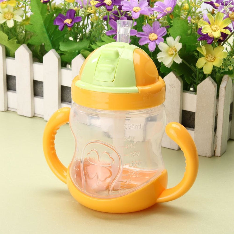 Traditional Orange Sippy Cup Toddler Drinking Plastic Bottle With Straw Age Play ABDL Adult Baby Fetish by DDLG Playground