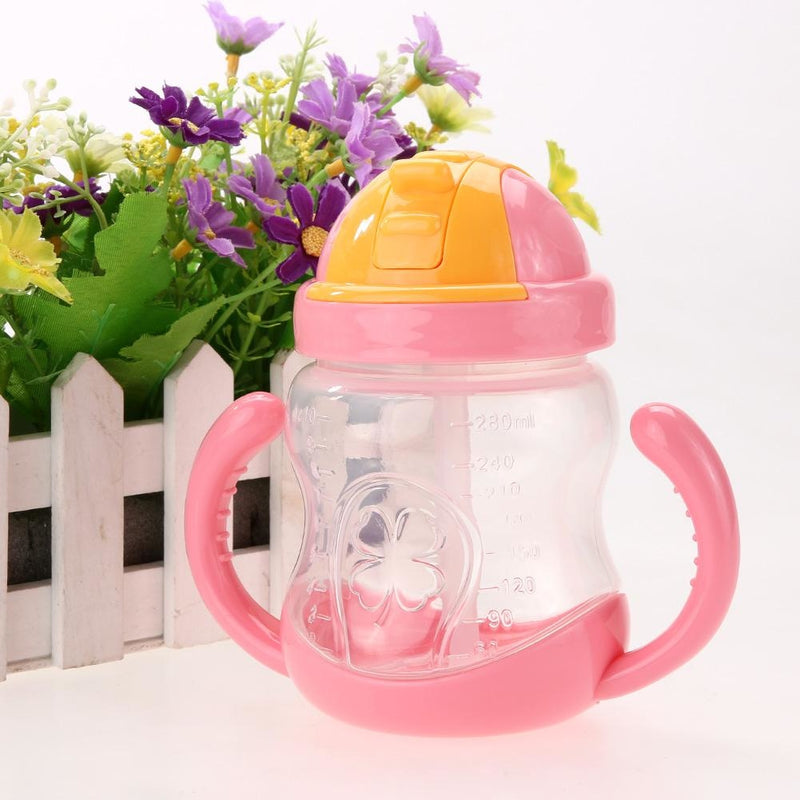 Traditional Pink Sippy Cup Toddler Drinking Plastic Bottle With Straw Age Play ABDL Adult Baby Fetish by DDLG Playground