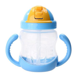 Traditional Blue Sippy Cup Toddler Drinking Plastic Bottle With Straw Age Play ABDL Adult Baby Fetish by DDLG Playground