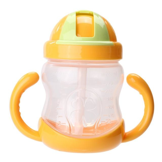 Traditional Yellow Sippy Cup Toddler Drinking Plastic Bottle With Straw Age Play ABDL Adult Baby Fetish by DDLG Playground