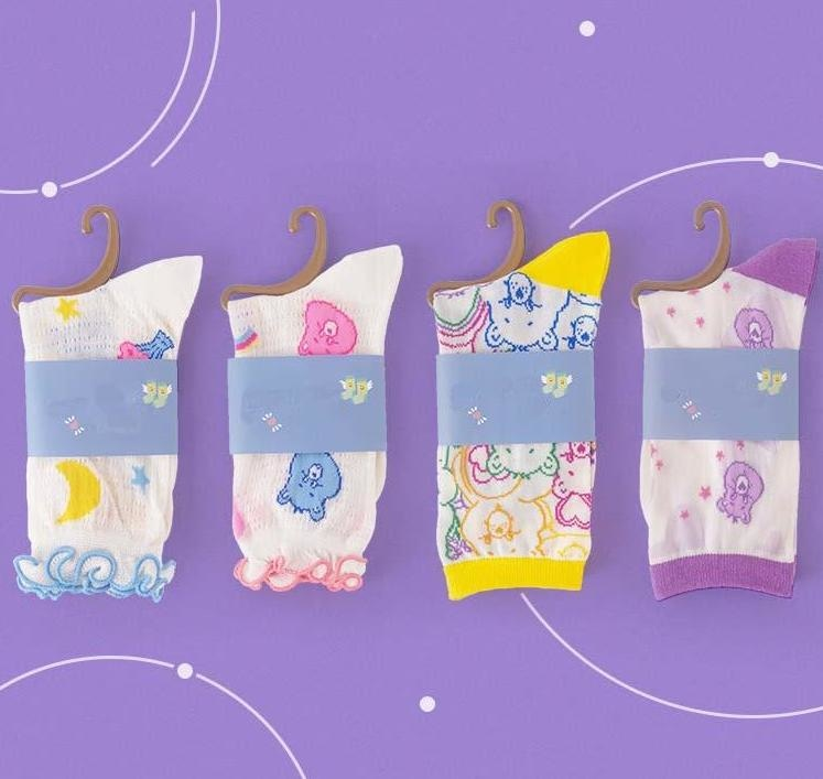 Transparent Care Bear Sockies - socks