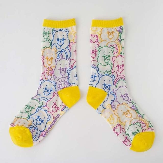 Transparent Care Bear Sockies - Care Bear Collage - socks
