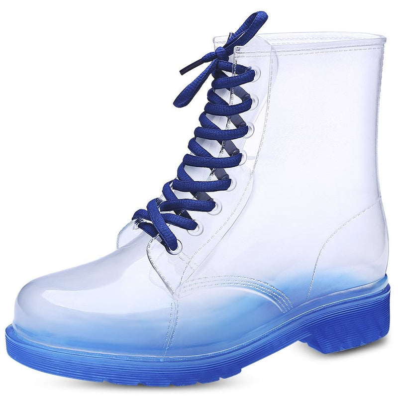 Transparent Rain Booties - Blue / 9 - boots