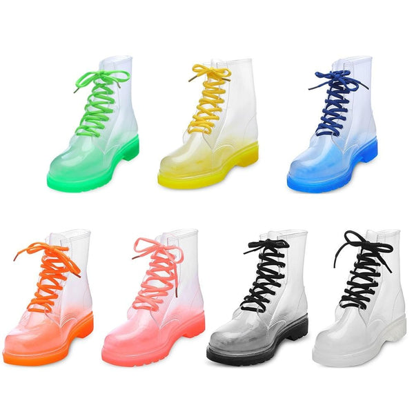 Transparent Rain Booties - boots