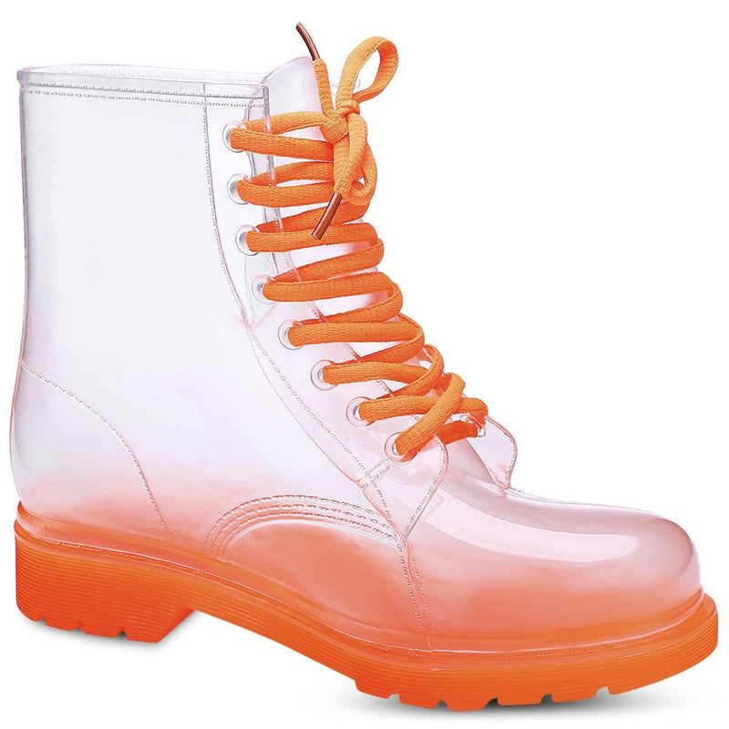 Transparent Rain Booties - Orange / 10 - boots