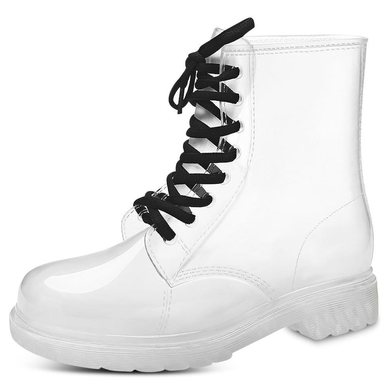 Transparent Rain Booties - White / 9 - boots